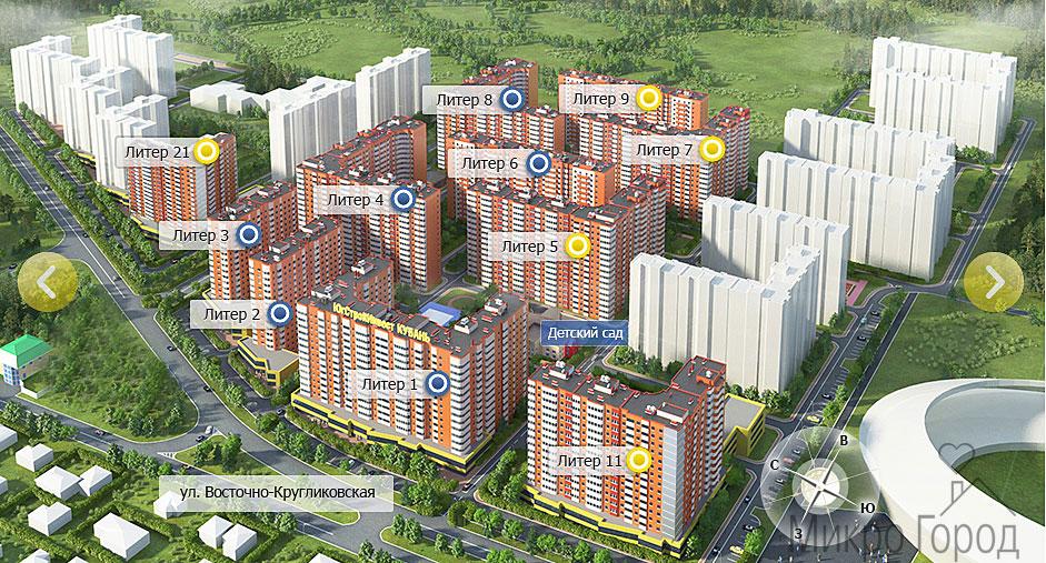 Продажа квартир ЖК «Панорама» Литер 21 в Краснодаре - недорогие квартиры от застройщика в Краснодаре.